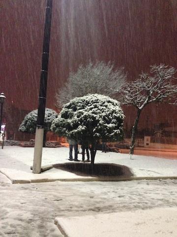 Nevou pra valer em Santa Catarina