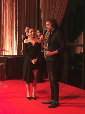 Andre Sada e a apresentadora Wanessa Camargo
